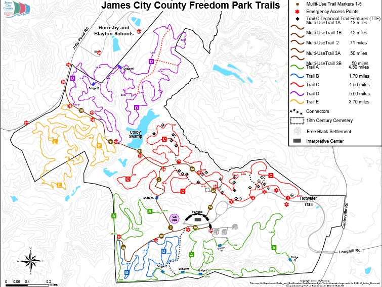 Freedom Park Trail Map